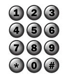 Phone Number Key Pad Stock Photography