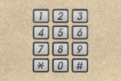 Phone number keypad Royalty Free Stock Photos