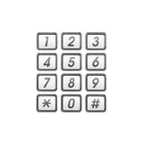 Phone number keypad Stock Images