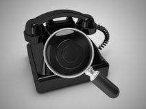 Phone number search. 3d high quality render Stock Images