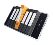 Phone office folders Stock Photo