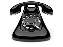 Phone old. 3d illustration on white background Stock Photography
