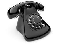 Phone old. 3d illustration on white background Stock Photos