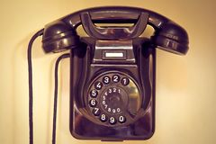 Phone, Old, Telephone Handset Stock Photo