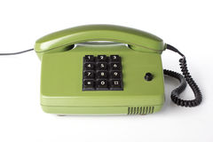 Phone. Old phone  on white background Royalty Free Stock Photos