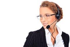 Phone operator Stock Photo