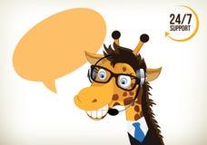 Phone Operator Giraffe Royalty Free Stock Photo