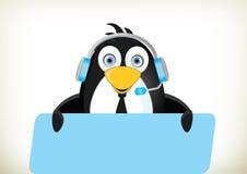 Phone Operator Penguin Royalty Free Stock Photography