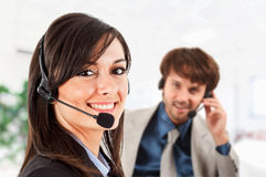 Phone operators Royalty Free Stock Images