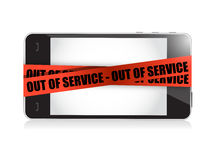 Phone out of service. illustration concept design Stock Photography
