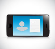 Phone people and resume. illustration design Royalty Free Stock Photo