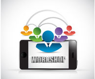Phone people workshop illustration royalty free illustration
