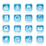 Phone Performance, Business and Office Icons Stock Image