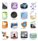 Phone  performance, internet and office icon. S - vector icon set Stock Images