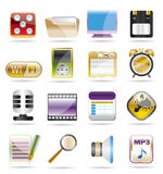 Phone  performance, internet and office icons. Vector icon set 2 Stock Images