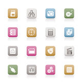 Phone  performance, internet and office icons Stock Photos