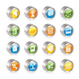 Phone  Performance, Internet and Office Icons Royalty Free Stock Photography