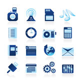 Phone Performance, Internet and Office Icons Royalty Free Stock Image