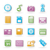 Phone Performance, Internet and Office Icons Royalty Free Stock Images