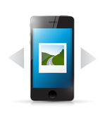 Phone and photo gallery illustration design Stock Photos