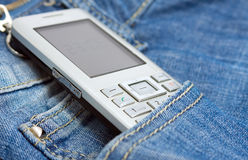 Phone in the pocket Stock Photo