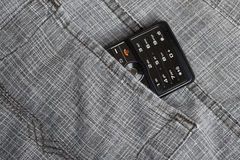 Phone in pocket Royalty Free Stock Photos