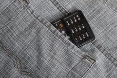 Phone in pocket Royalty Free Stock Photos