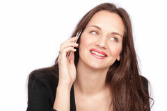 On phone Royalty Free Stock Photo
