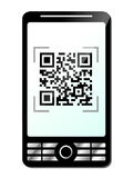 Phone with qr code Stock Images
