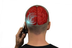 Phone radiation Royalty Free Stock Photography