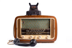 Phone and radio Stock Image