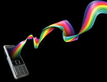 Phone rainbow background Stock Photography