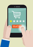 Phone rating one star Stock Photography