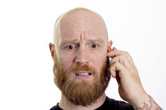 On the phone receive bad news Royalty Free Stock Photo