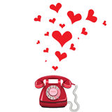 Phone receiver and heart Stock Image