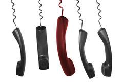 Phone receivers. Phone for urgent and emergency situation leadership Royalty Free Stock Photography