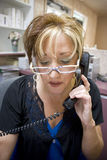 Phone Receptionist Royalty Free Stock Photo