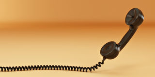 Phone reciever. 3d Royalty Free Stock Photography