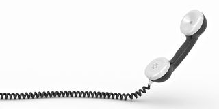 Phone reciever on white isolated background Royalty Free Stock Images