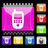 Phone rectangular  buttons. Set of rectangular  buttons with phone icon. EPS10 Royalty Free Stock Photos