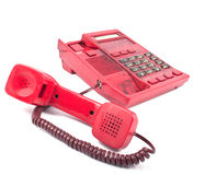 The phone is red Royalty Free Stock Photography