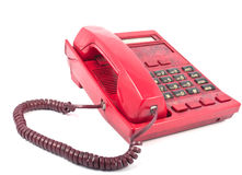 The phone is red Stock Photo