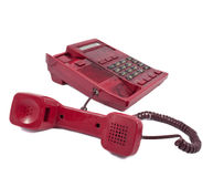 The phone is red Royalty Free Stock Photos