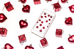 St.Valentin`s Day, Christmas, New Year presents royalty free stock photos