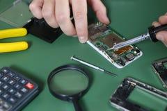 Phone repair chip Royalty Free Stock Image