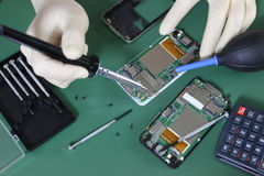Phone repair chip Royalty Free Stock Photography