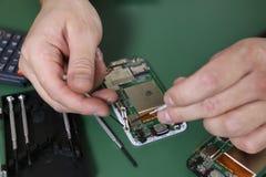 Phone repair chip Royalty Free Stock Photo