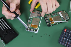Phone repair chip Royalty Free Stock Photos