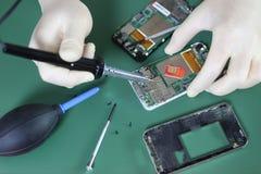 Phone repair chip Stock Image