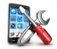 Phone repair symbol Royalty Free Stock Photo